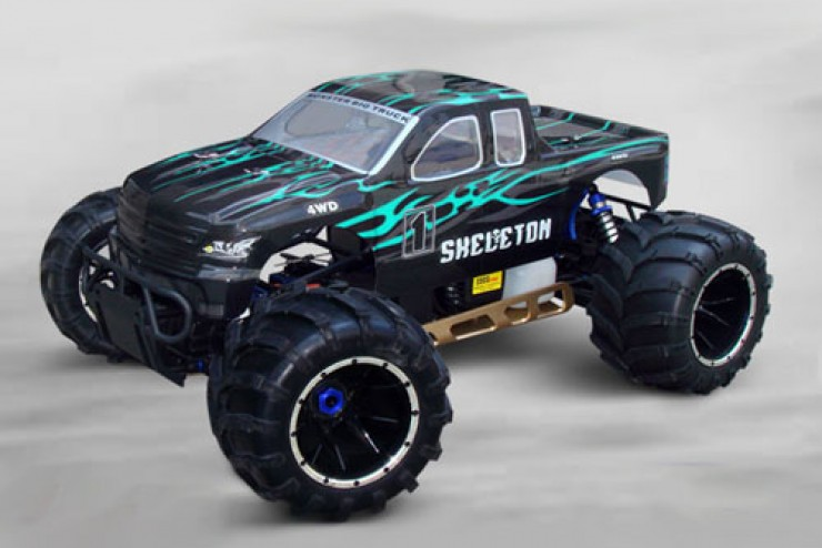 Монстр Sheleton Gasoline Off Road Truck на р/у HSP 94050PRO